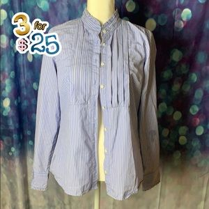 J Crew pleated front long sleeve blouse🌟🌟🌟3/$25